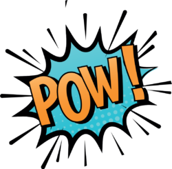 Comic book action sign POW