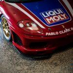 Liqui Moly sponsorship on red Ferrari car