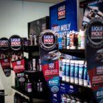Liqui Moly products on display