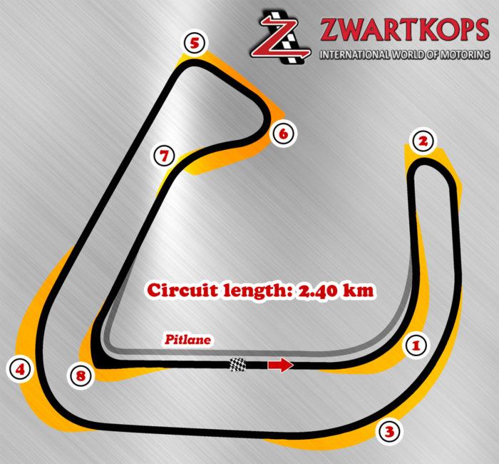 Zwartkops track layout illustration