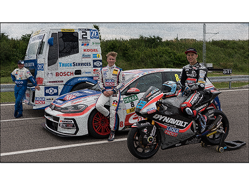 Three race drivers sponsored by Liqui Moly